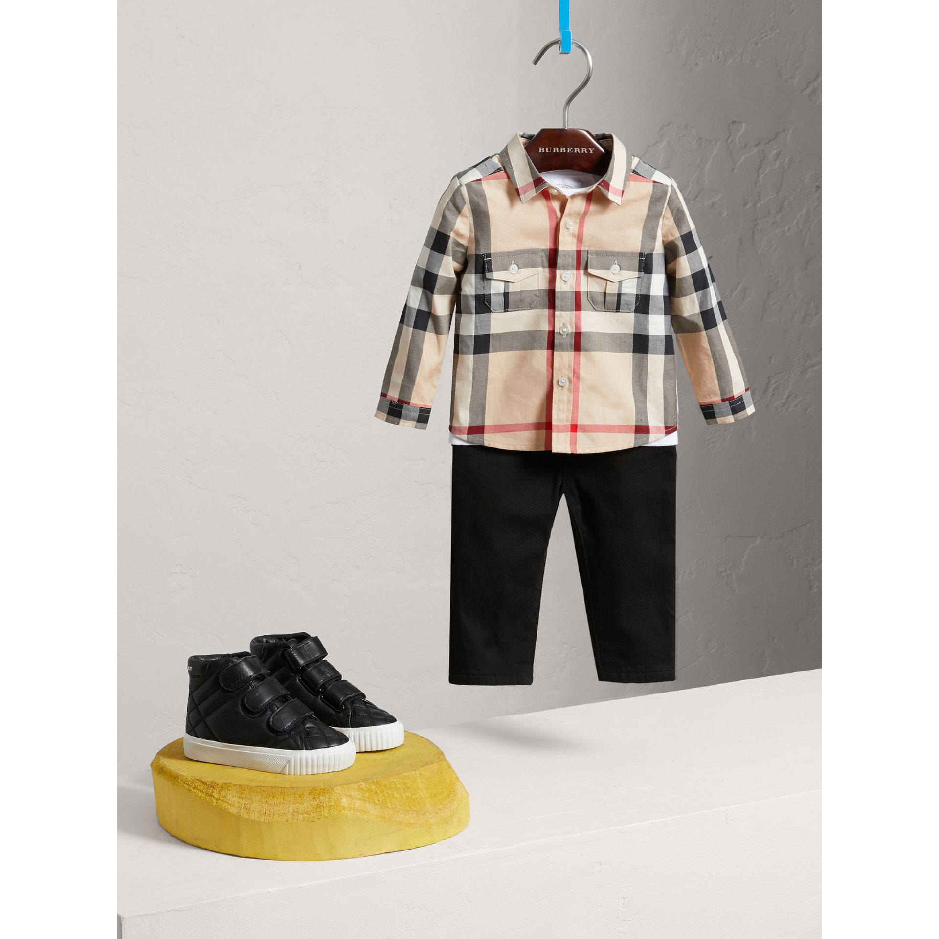 Check Cotton Shirt in New Classic - Boy | Burberry United Kingdom - gallery image 2