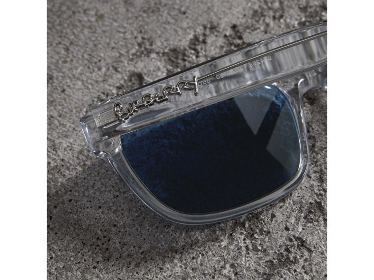 Doodle Square Frame Sunglasses in Crystal - Men | Burberry Singapore - cell image 1