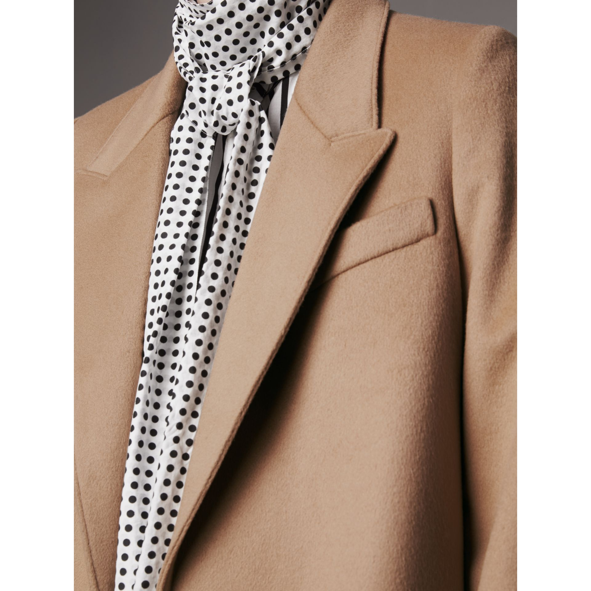 Wool Cashmere Tailored Coat in Camel - Women | Burberry - gallery image 5