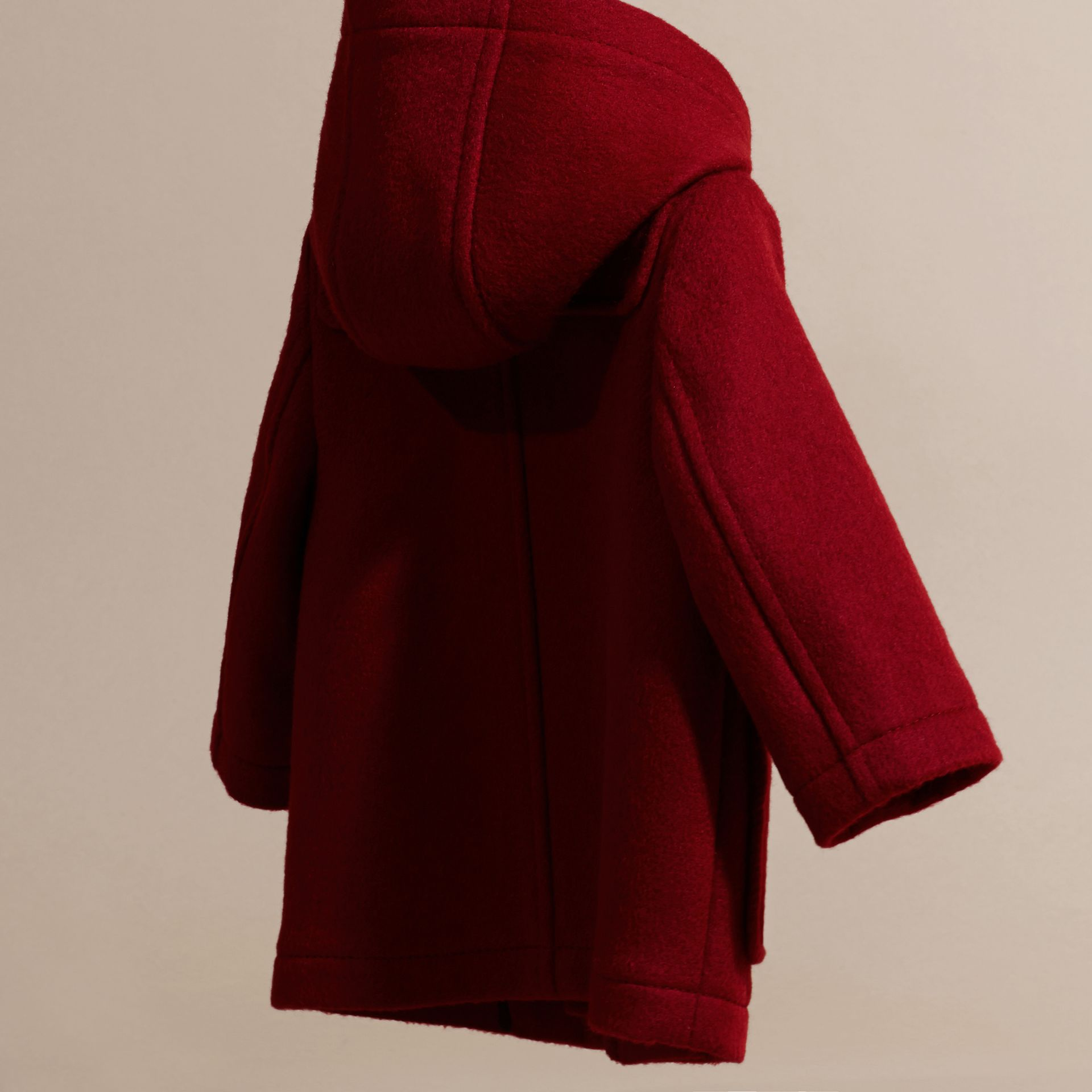 Windsor red Wool Duffle Coat with Check and Hearts Lining - gallery image 4