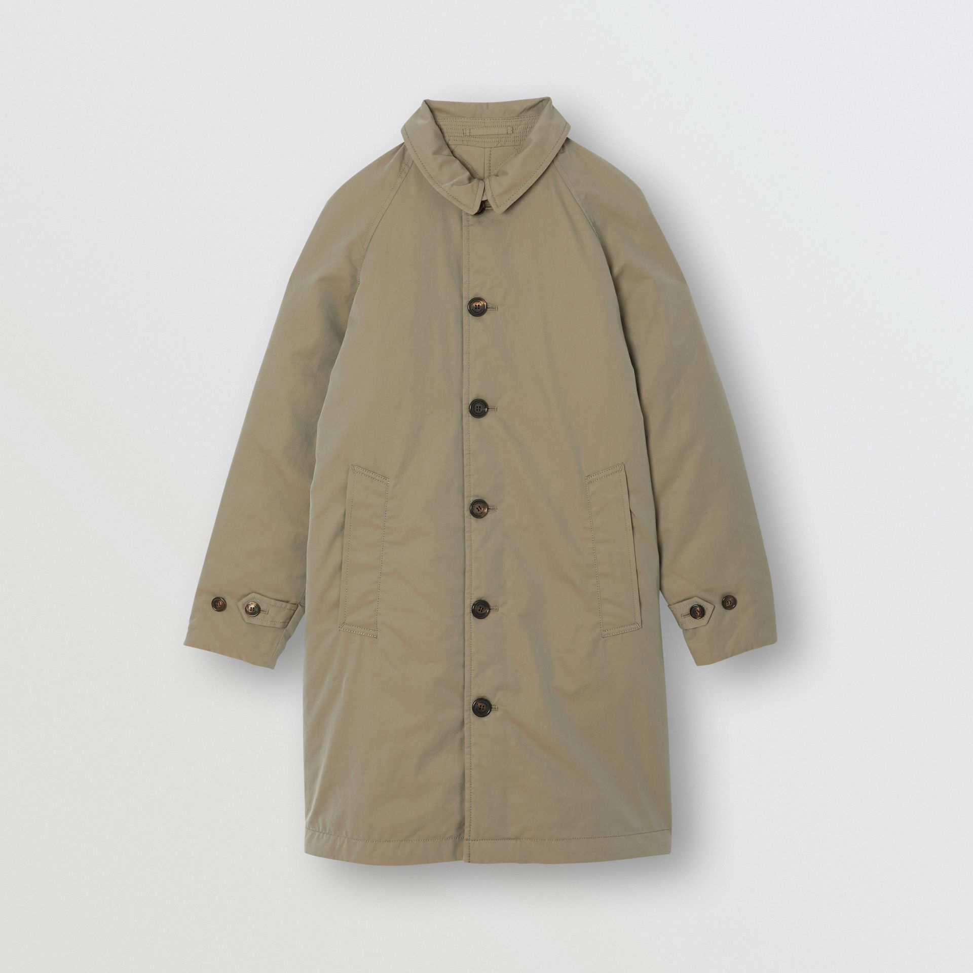 Reversible Tropical Gabardine Car Coat in Chalk Green | Burberry Australia - gallery image 0