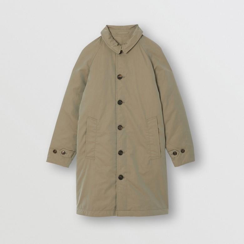 Burberry - Abrigo tres cuartos reversible en algodón de gabardina tropical - 1