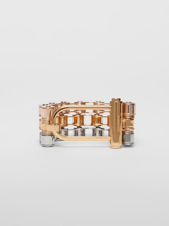 Bicycle Chain Gold and Rose Gold-plated Bracelet in Gold/pallad - Women | Burberry - cell image 1