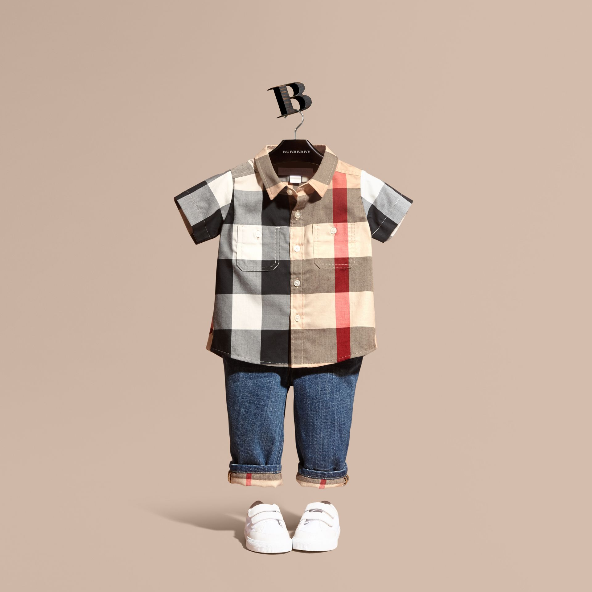 Short-sleeve Check Cotton Shirt in New Classic - Children | Burberry United States - gallery image 1
