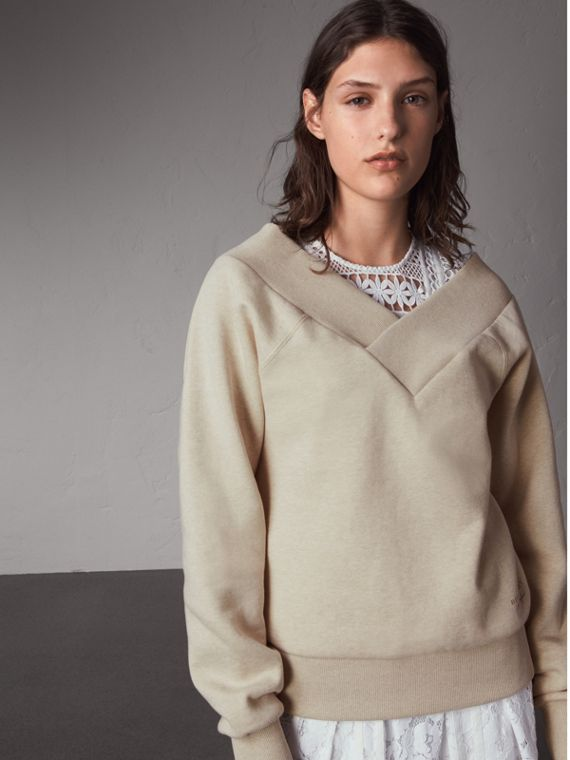 Off-the-shoulder Sweatshirt - Women | Burberry Hong Kong