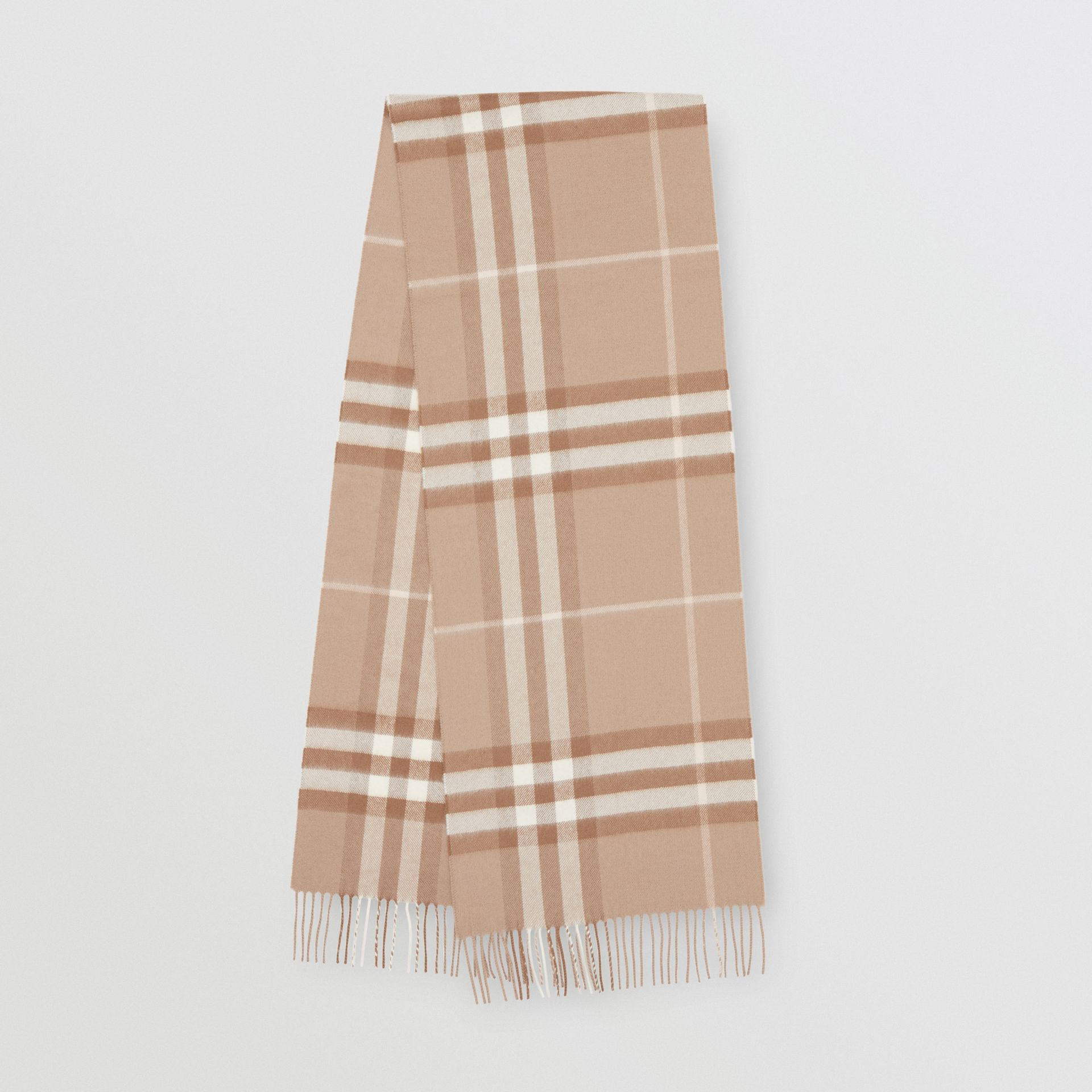 The Classic Check Cashmere Scarf in Warm Taupe | Burberry - gallery image 0