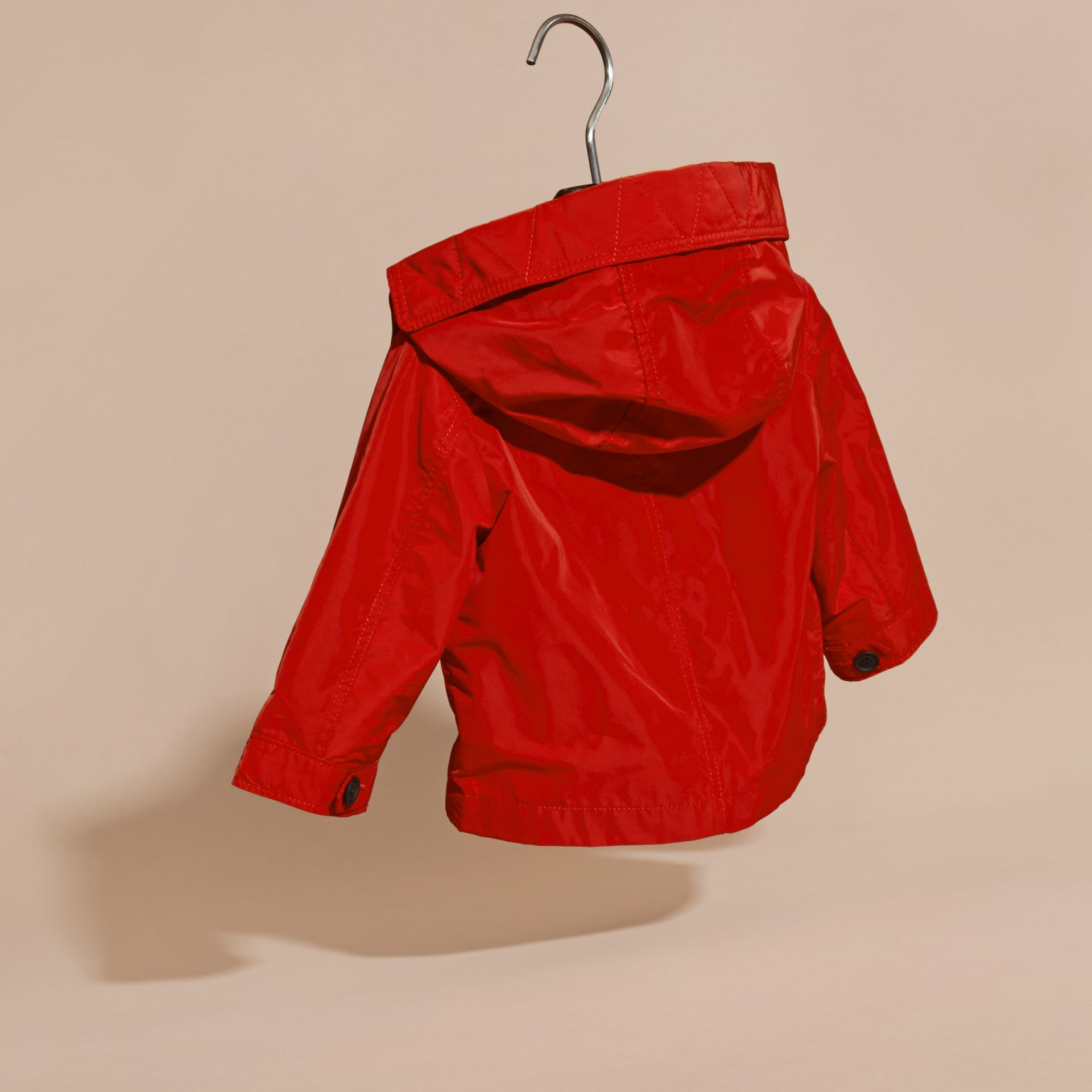 Military red Packaway Technical Parka Jacket - gallery image 4