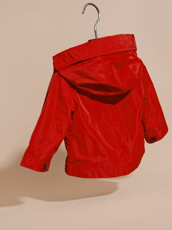 Military red Packaway Technical Parka Jacket - cell image 3