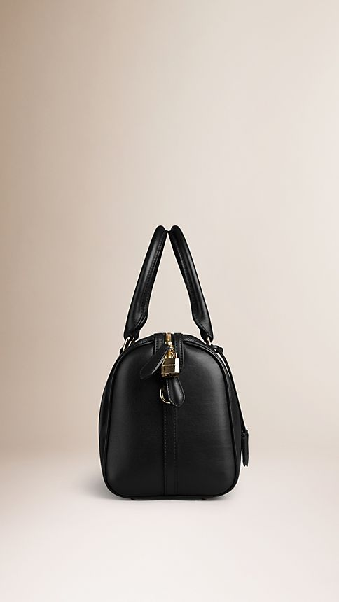 Black The Medium Alchester in Embossed Check Leather - Image 4