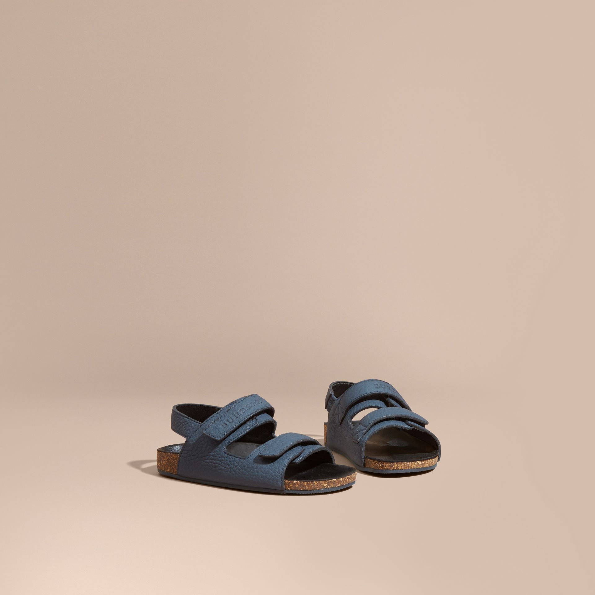 Cork Sole Leather Sandals - gallery image 1