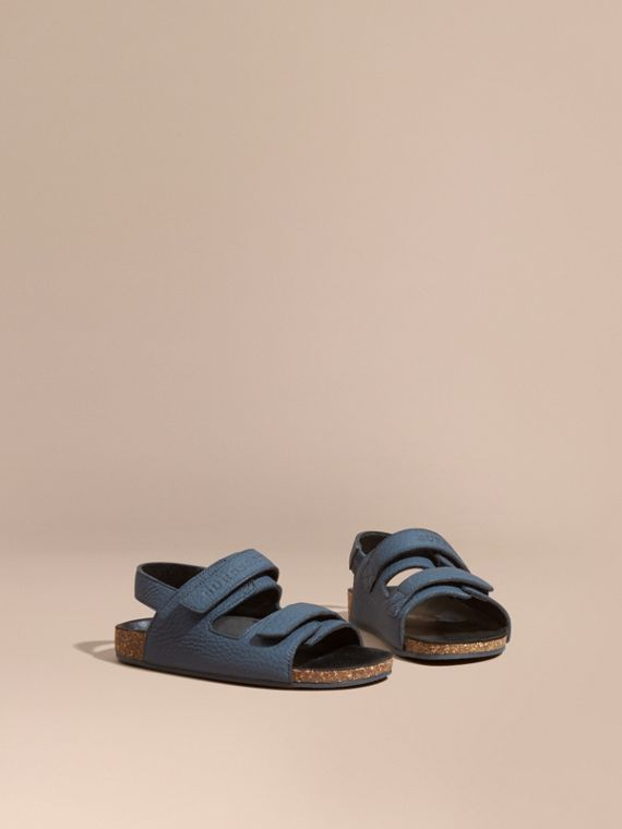 Cork Sole Leather Sandals