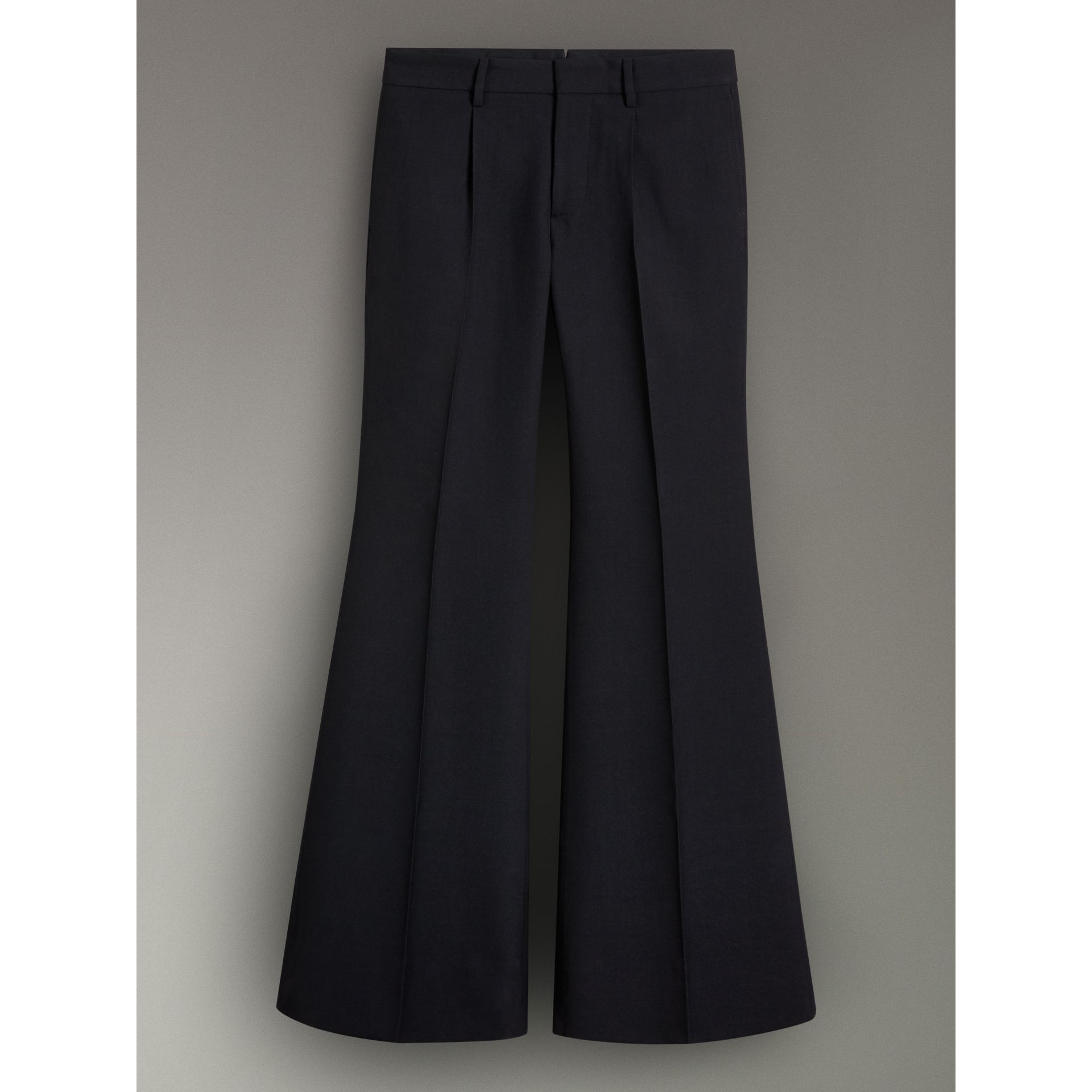 Flared Tailored Trousers in Dark Navy - Women | Burberry - gallery image 3