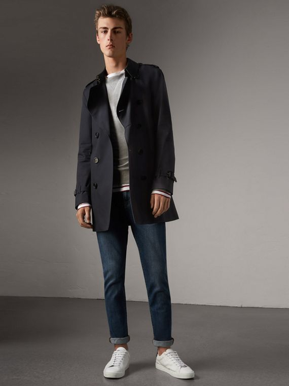 The Kensington – Mid-length Trench Coat in Navy