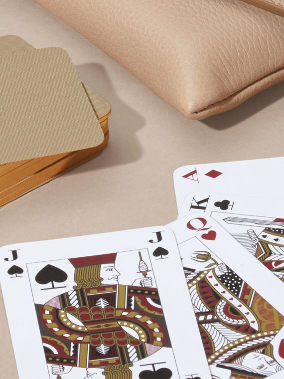 Abricot pâle Étui pour jeu de cartes en cuir grené Abricot Pâle - cell image 3