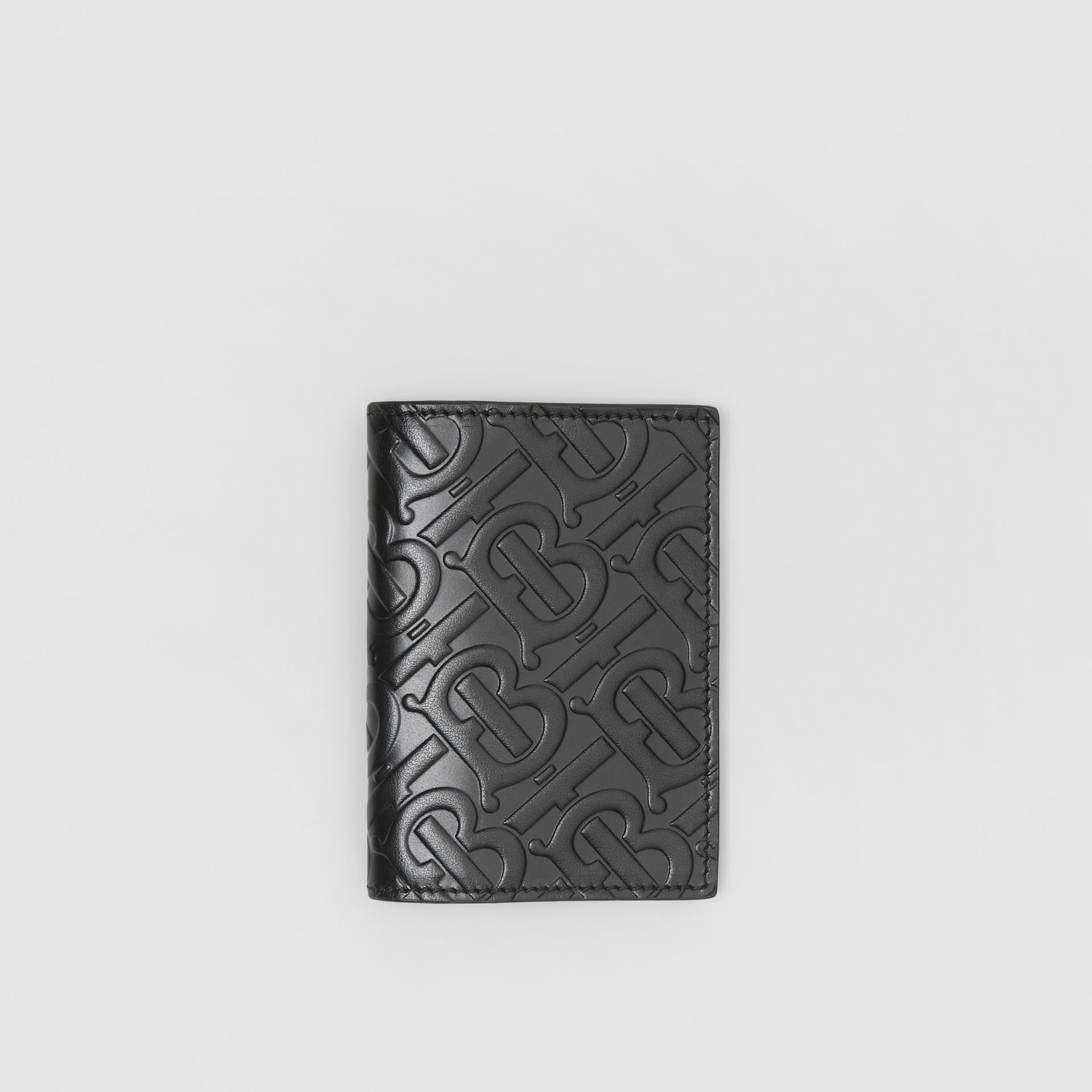 Monogram Leather Bifold Card Case in Black - Men | Burberry - gallery image 0