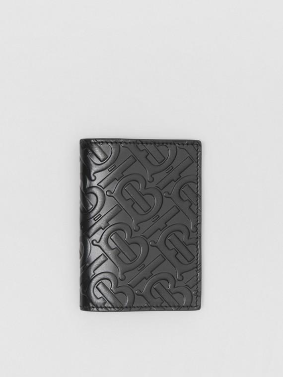 Monogram Leather Bifold Card Case in Black