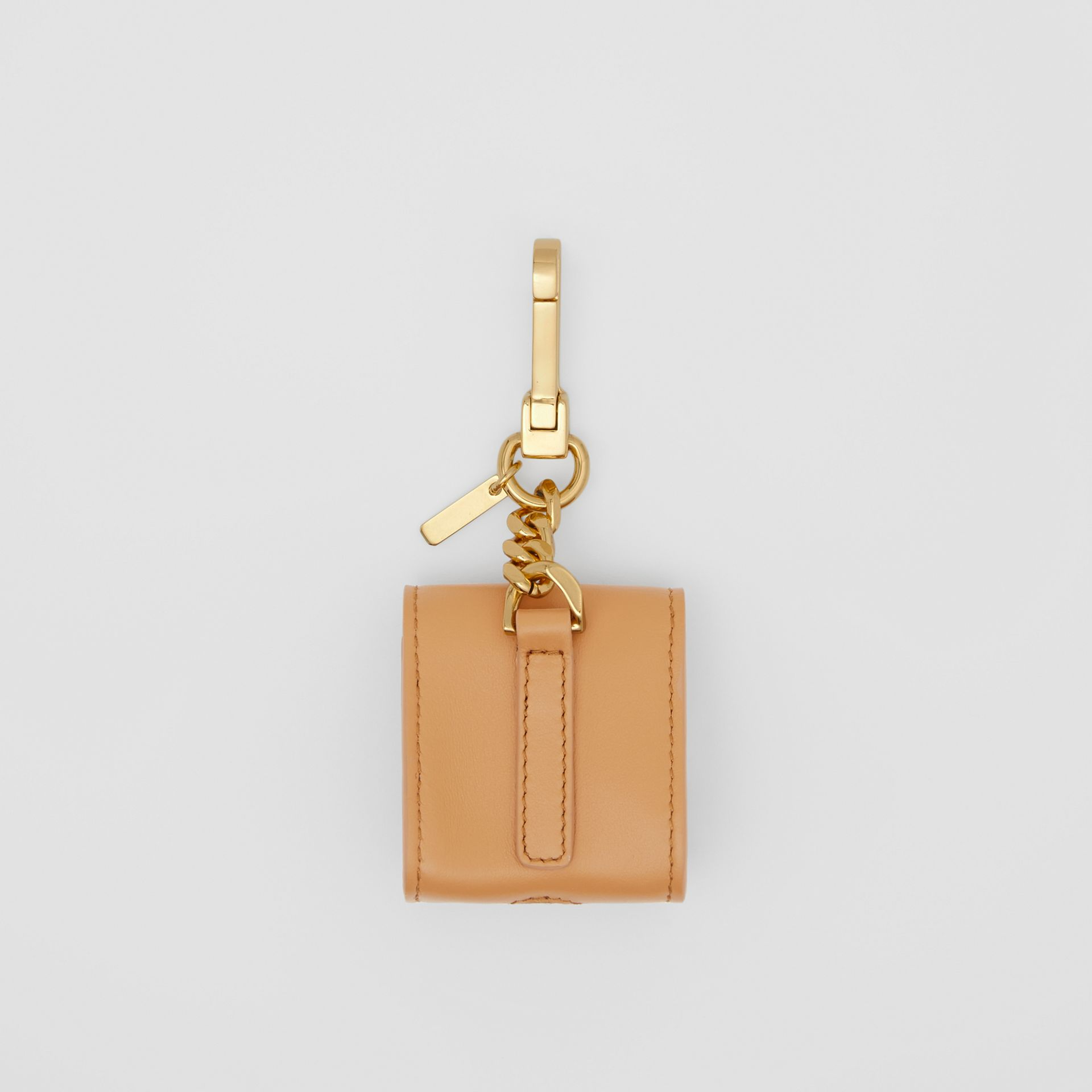 Grainy Leather AirPods Case in Warm Sand - Women | Burberry - gallery image 5