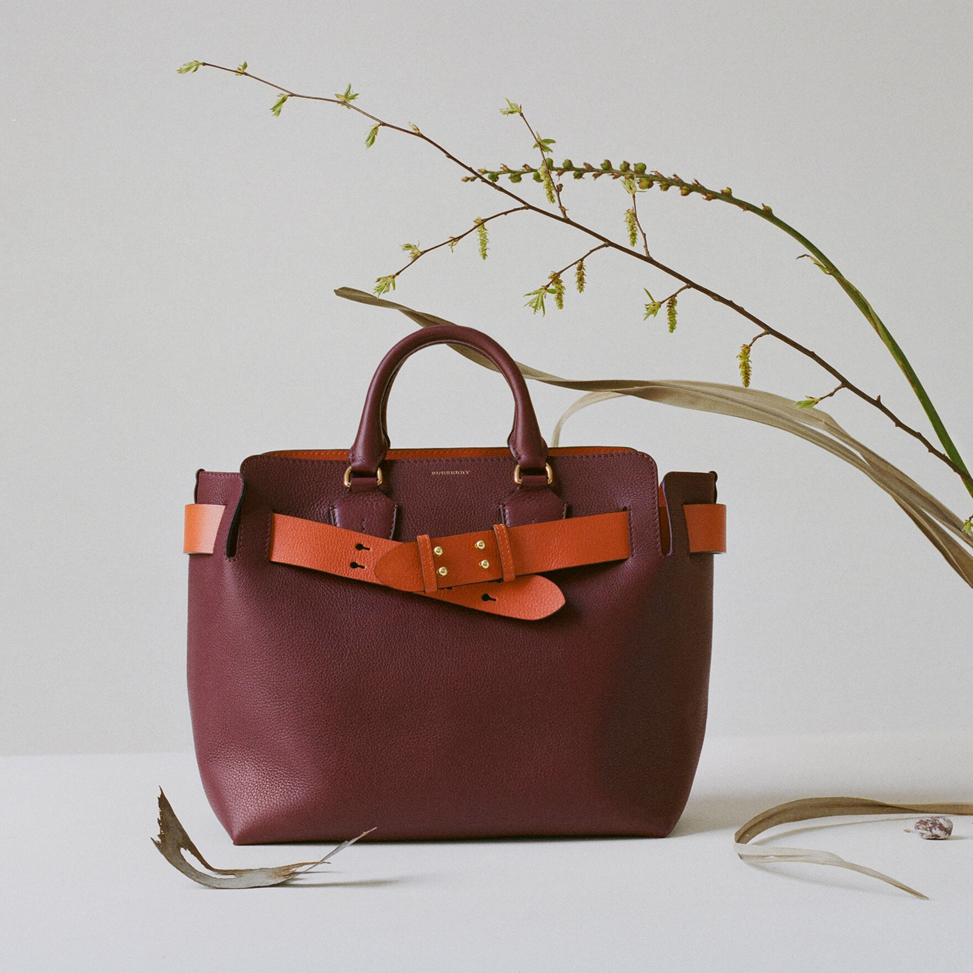 Sac The Belt moyen en cuir (Bordeaux Intense) - Femme | Burberry - photo de la galerie 1
