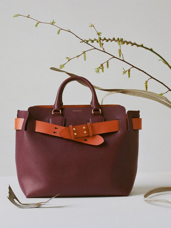 Sac The Belt moyen en cuir (Bordeaux Intense) - Femme | Burberry - cell image 1