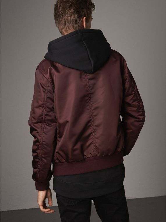 Point Collar Bomber Jacket in Claret - Men | Burberry - cell image 2