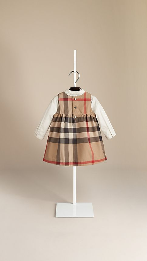 New classic Check Cotton Dress - Image 2