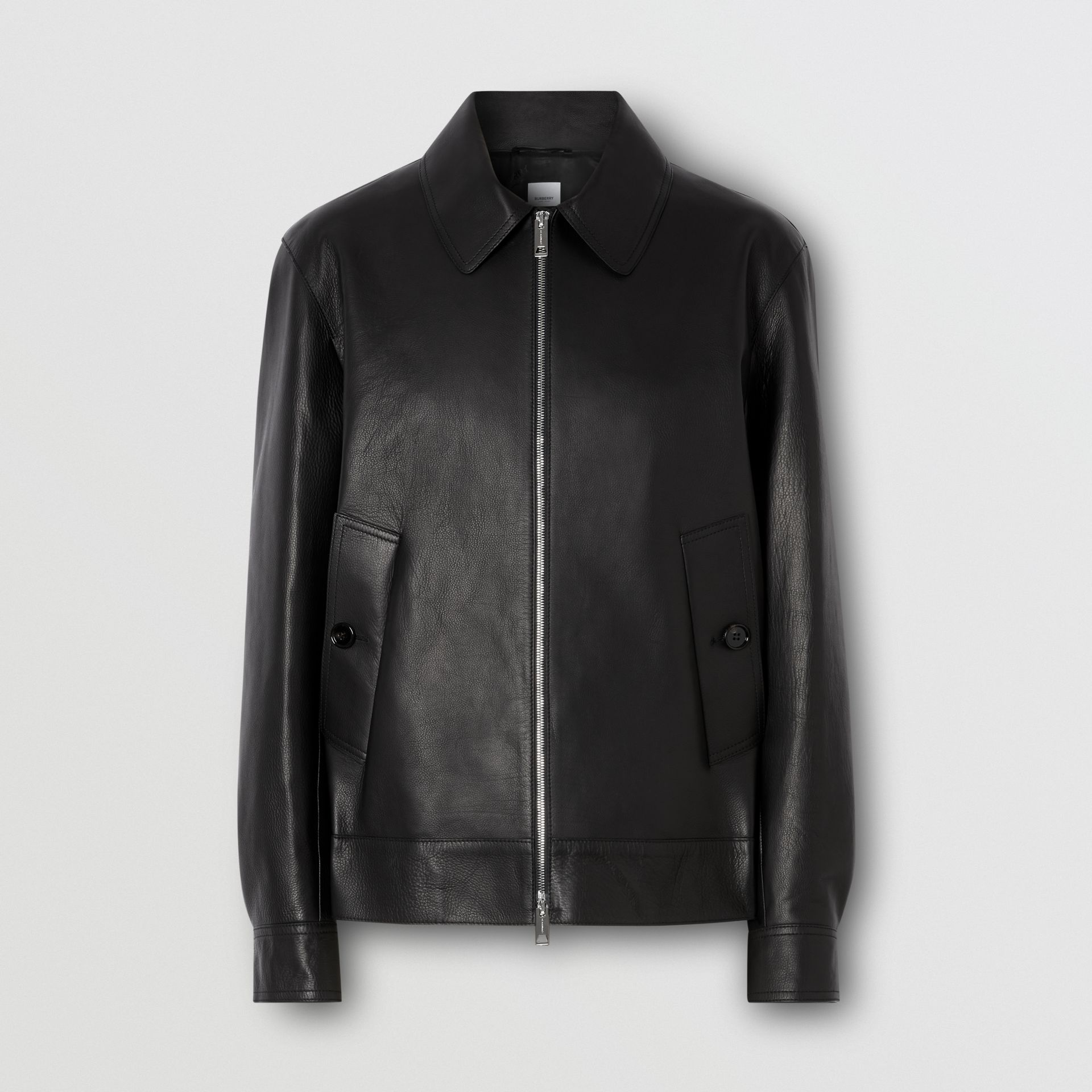 Leather Jacket in Black - Men | Burberry - gallery image 3