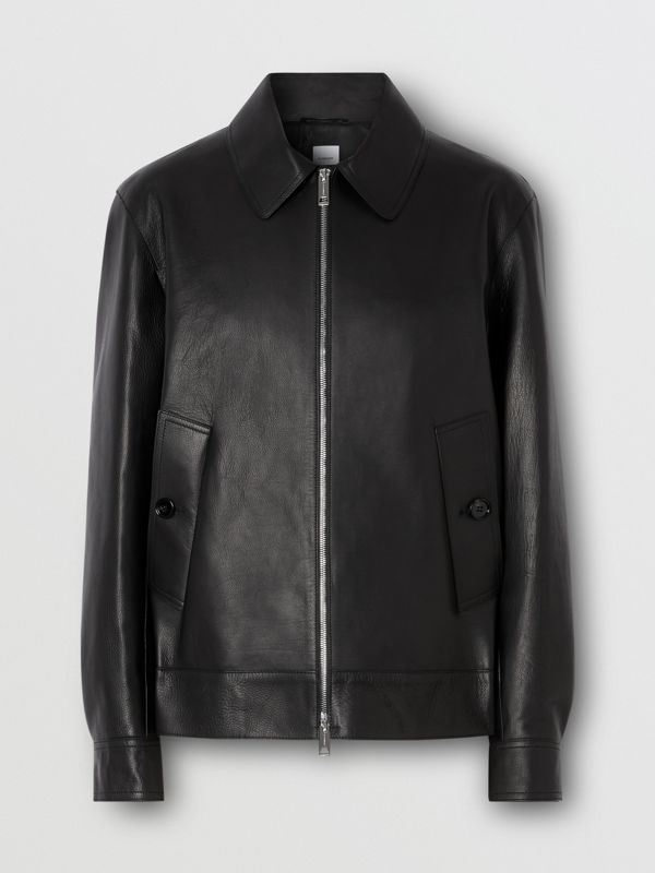 Leather Jacket in Black - Men | Burberry - cell image 3