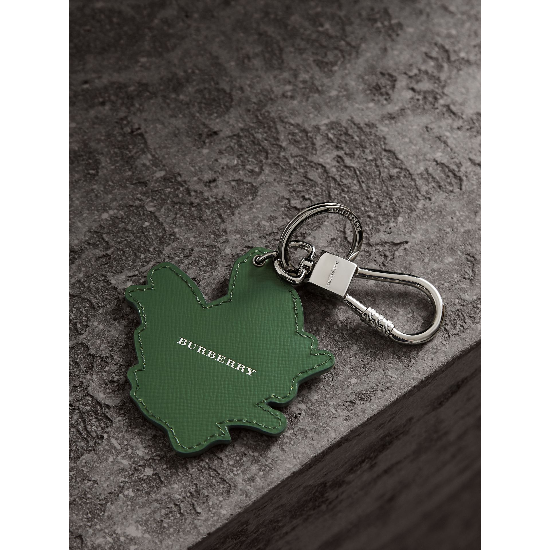 Beasts Leather Key Ring in Honey | Burberry - gallery image 3