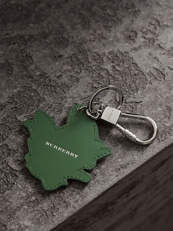 Beasts Leather Key Ring in Honey | Burberry - cell image 3