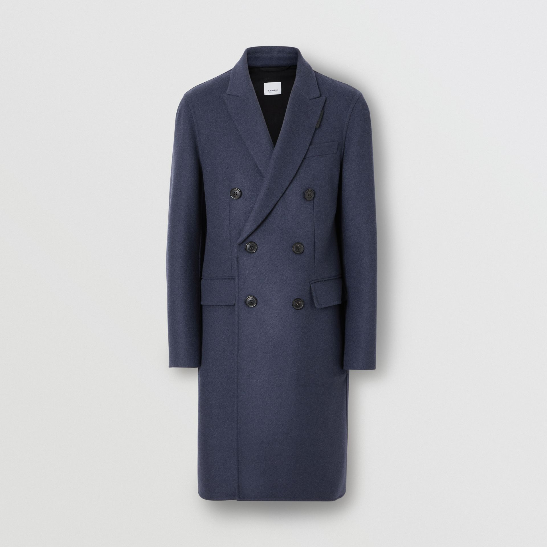 Double-faced Wool Cashmere Tailored Coat in Steel Blue Melange - Men | Burberry Canada - gallery image 3