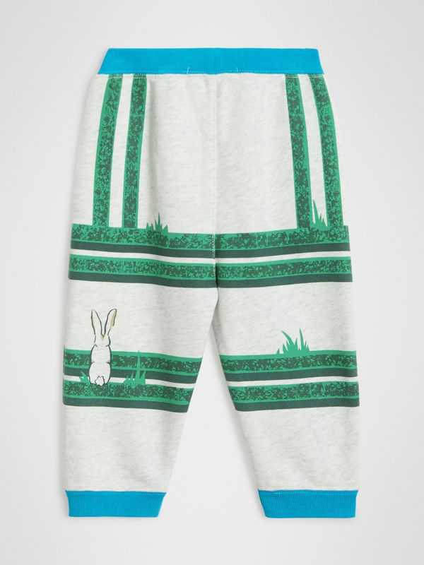 Hedge Maze Print Cotton Trackpants in Multicolour - Children | Burberry - cell image 3