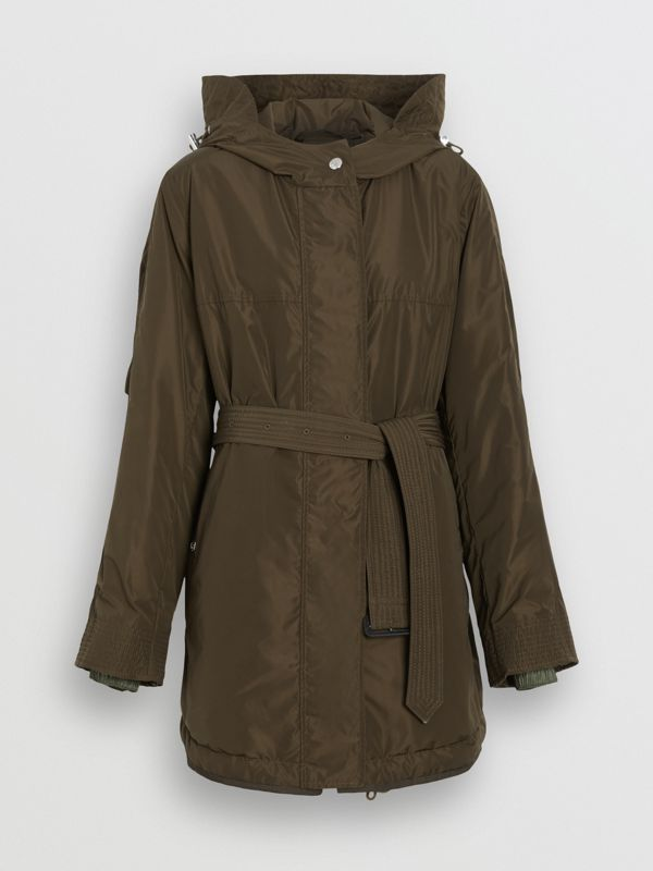 Shape-memory Taffeta Hooded Parka in Dark Olive - Women | Burberry - cell image 3