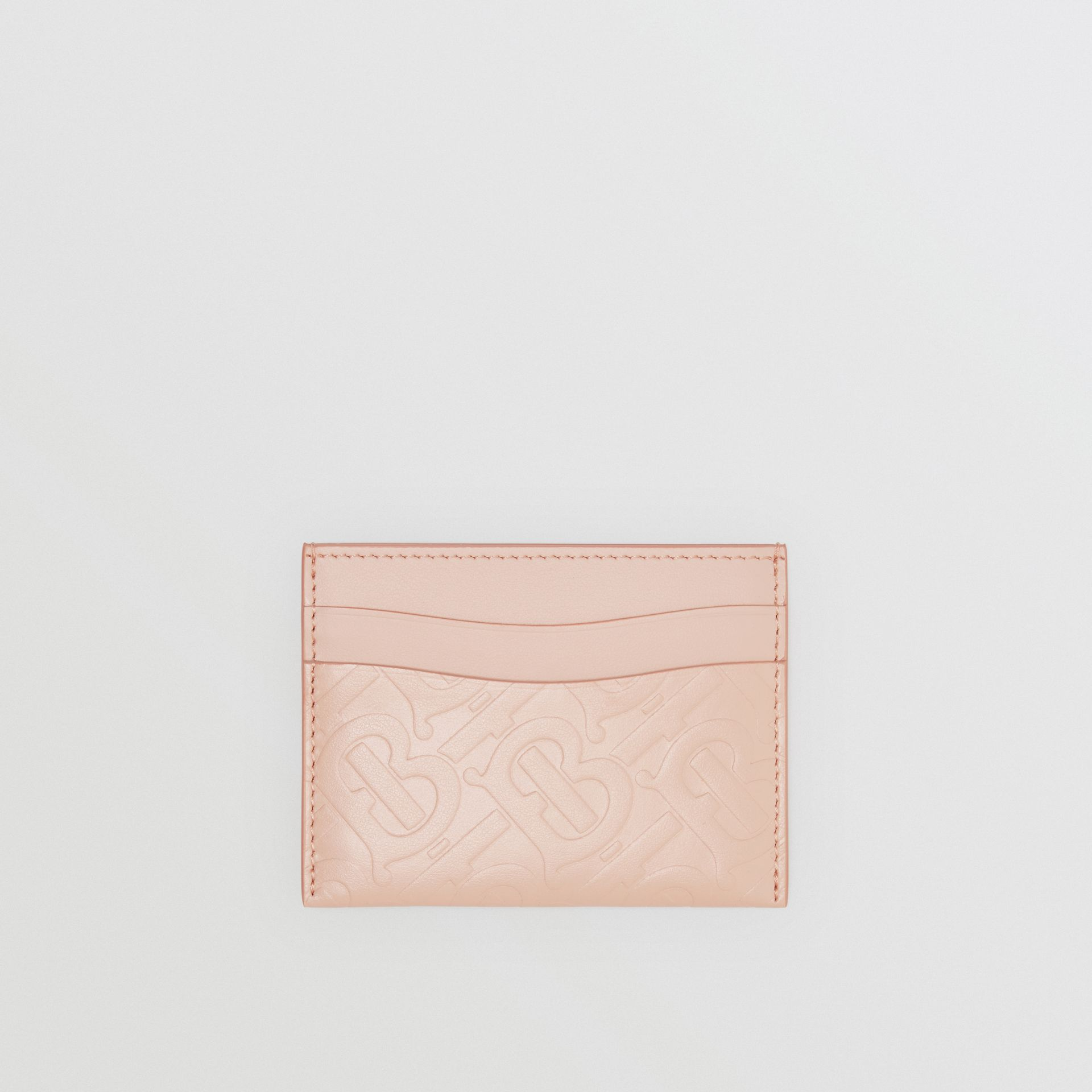Monogram Leather Card Case in Rose Beige - Women | Burberry - gallery image 0