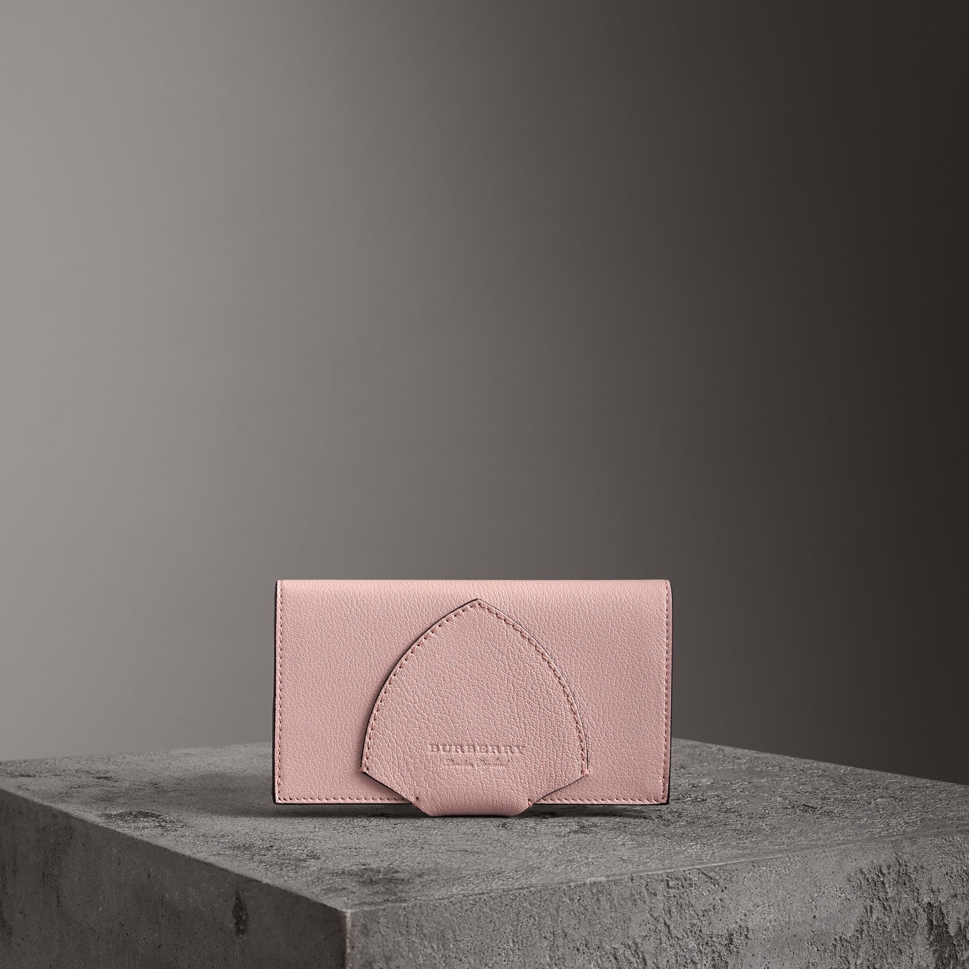 Equestrian Shield Two-tone Leather Continental Wallet in Pale Ash Rose - Women | Burberry United Kingdom - gallery image 0