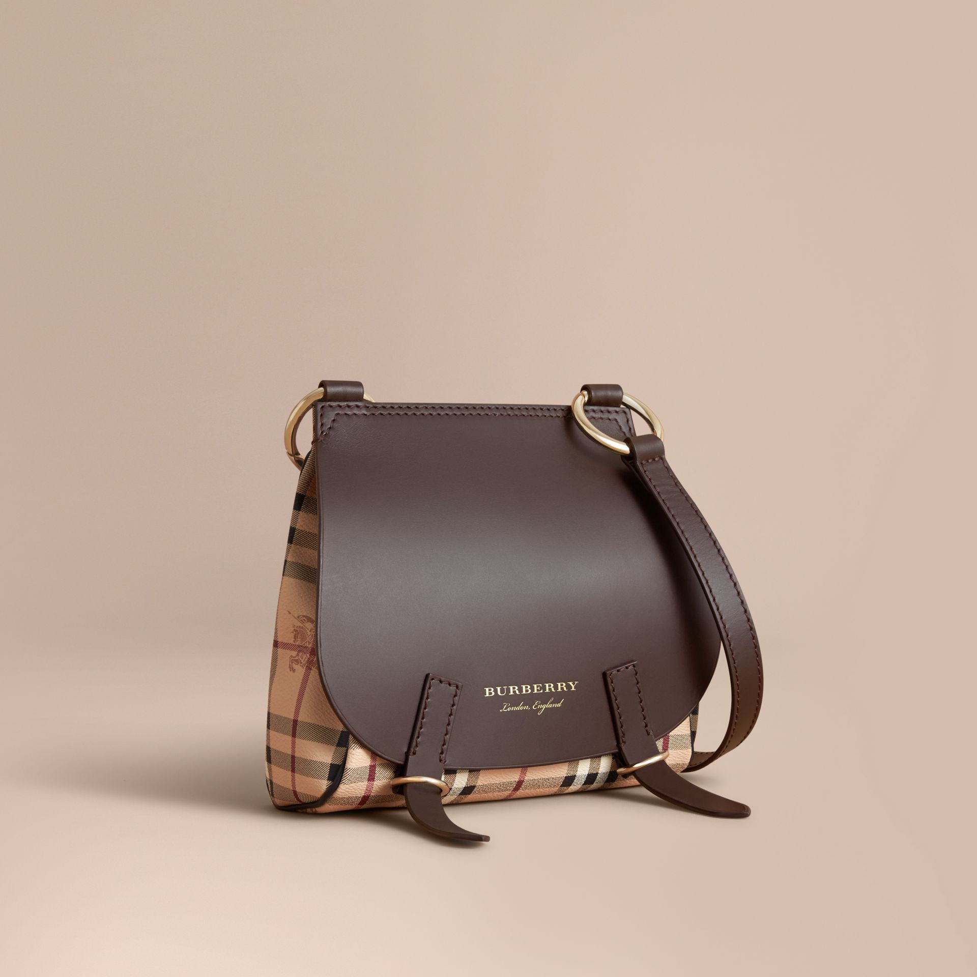 The Bridle Crossbody Bag in Haymarket Check - Women | Burberry - gallery image 1