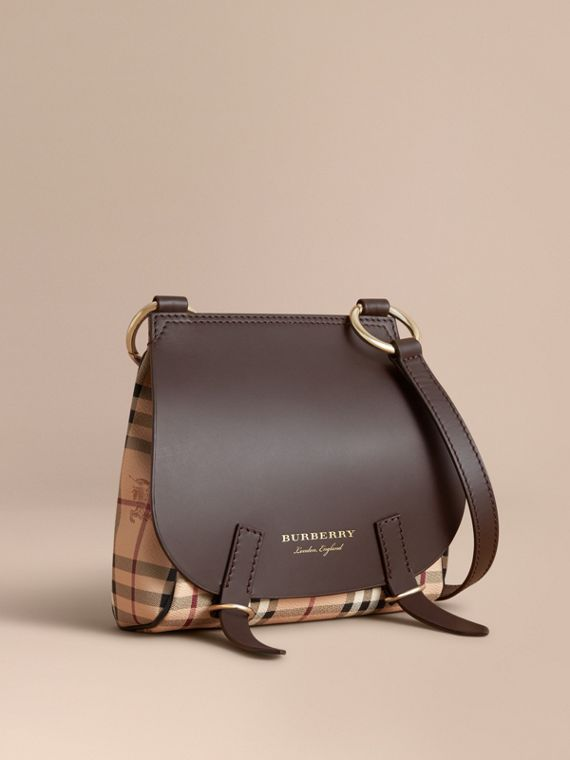 Borsa a tracolla The Bridle con motivo Haymarket check - Donna | Burberry