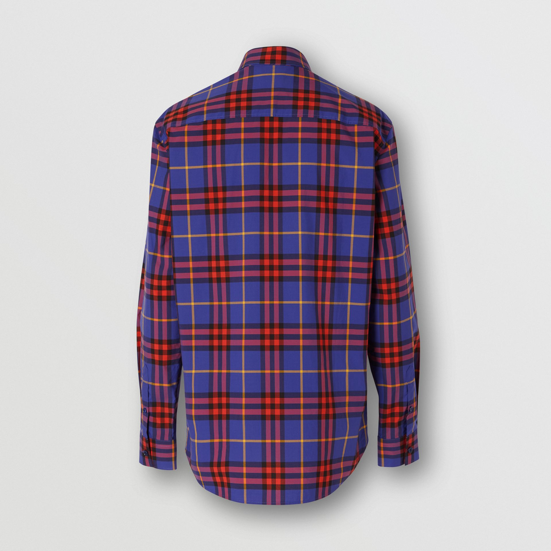 Check Cotton Poplin Shirt in Regency Purple - Men | Burberry - gallery image 5