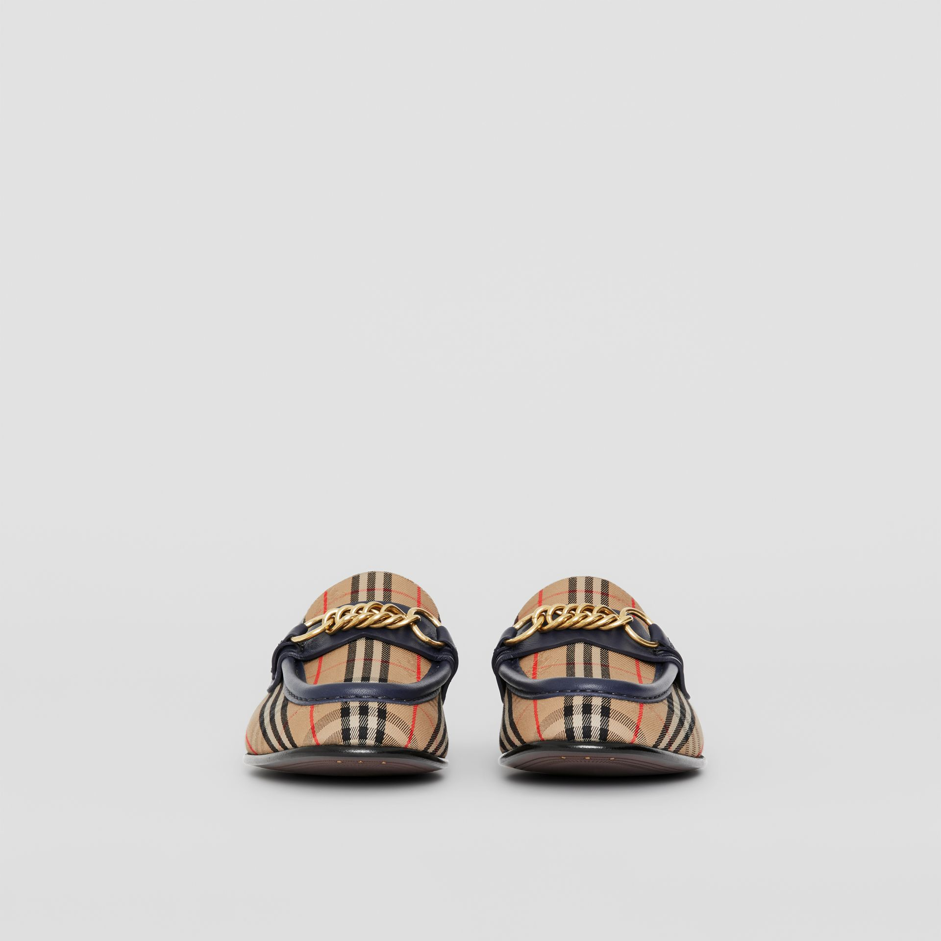 The 1983 Check Link Loafer in Ink Blue - Women | Burberry - gallery image 2