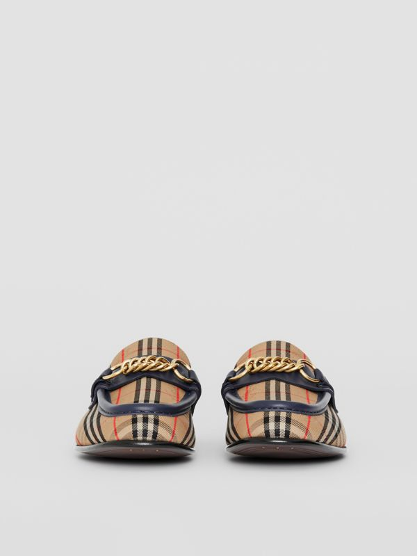 The 1983 Check Link Loafer in Ink Blue - Women | Burberry Australia - cell image 3