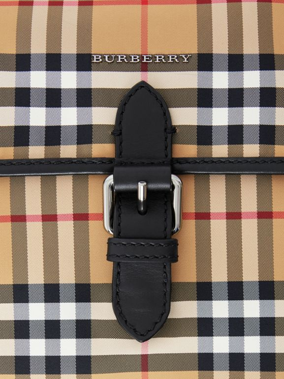 Vintage Check Baby Changing Shoulder Bag in Antique Yellow/black - Children | Burberry - cell image 1