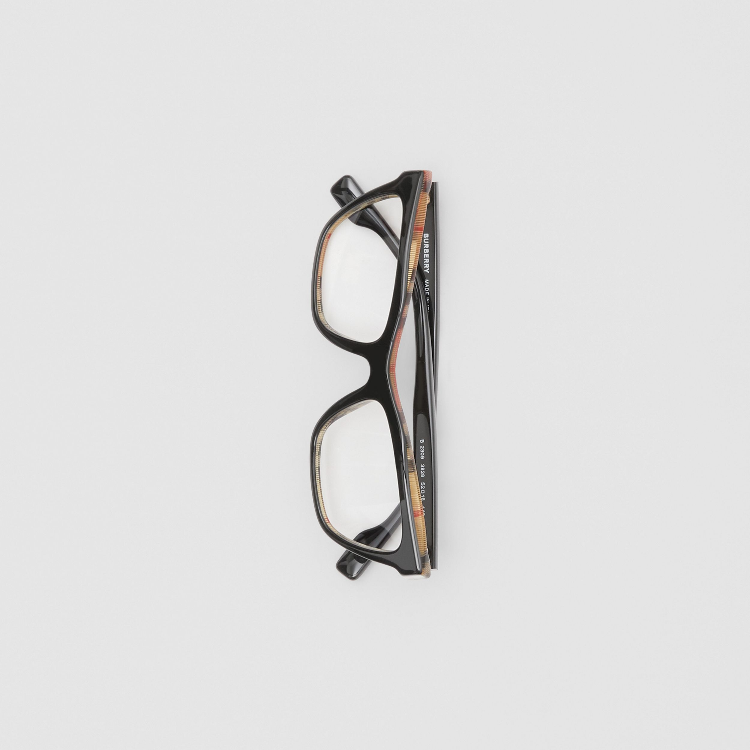 Rectangular Optical Frames in Black/beige - Women | Burberry United States - 3