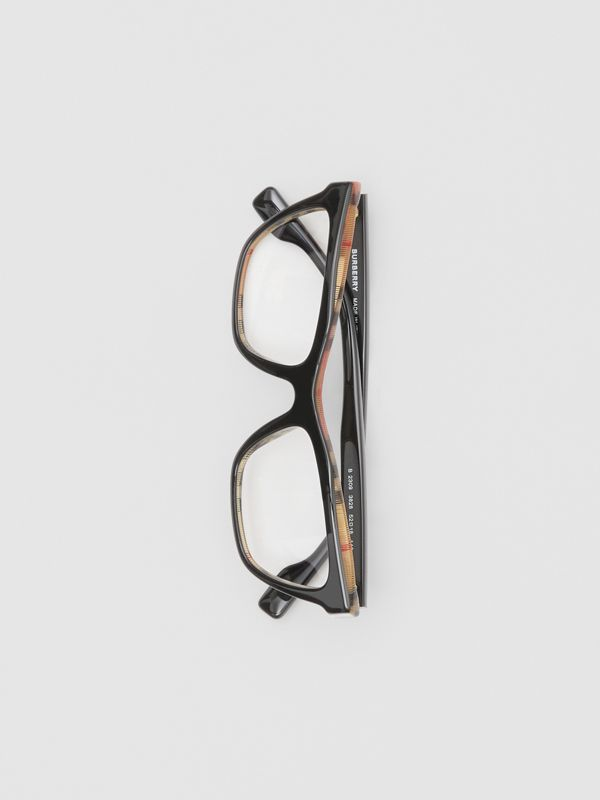 Rectangular Optical Frames in Black/beige - Women | Burberry Canada - cell image 2