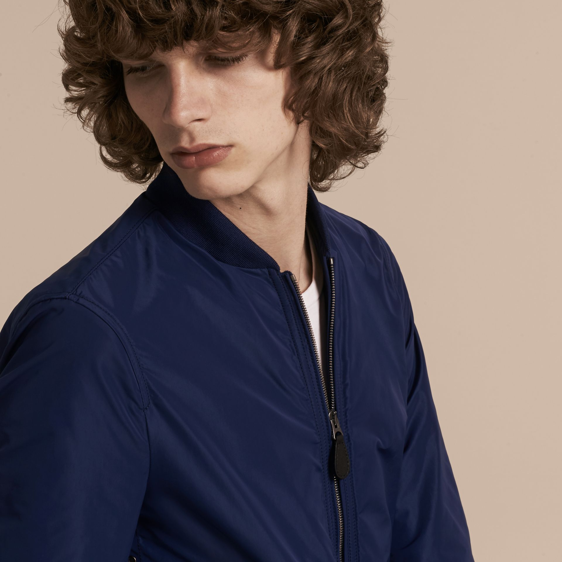 Jet blue Showerproof Bomber Jacket Jet Blue - gallery image 5
