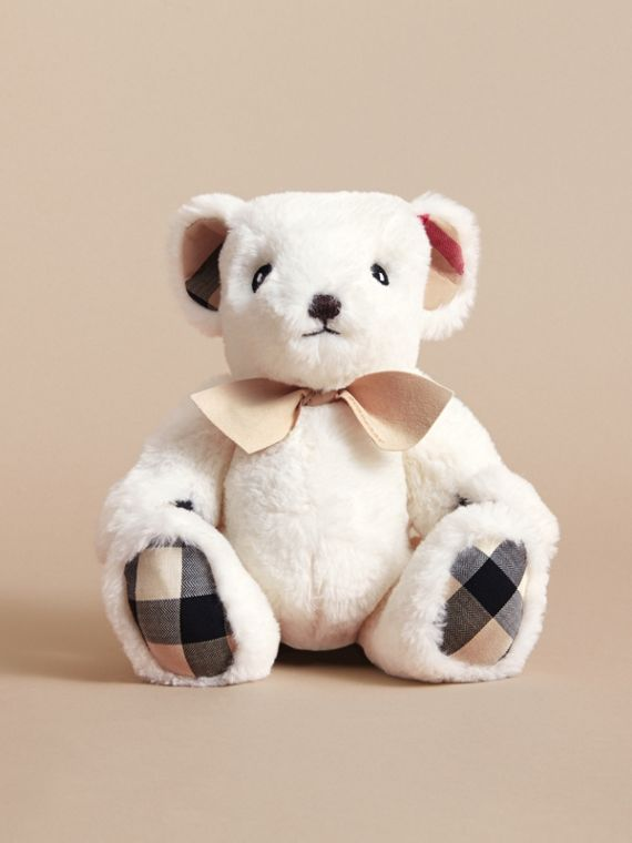 Thomas Baby Bear with Check Detail in White | Burberry - cell image 3