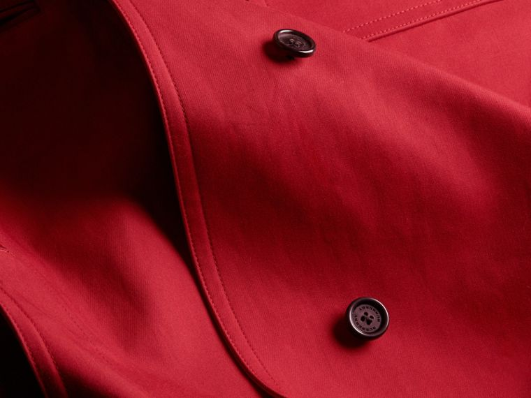 Showerproof Cotton Gabardine Car Coat Military Red - cell image 1