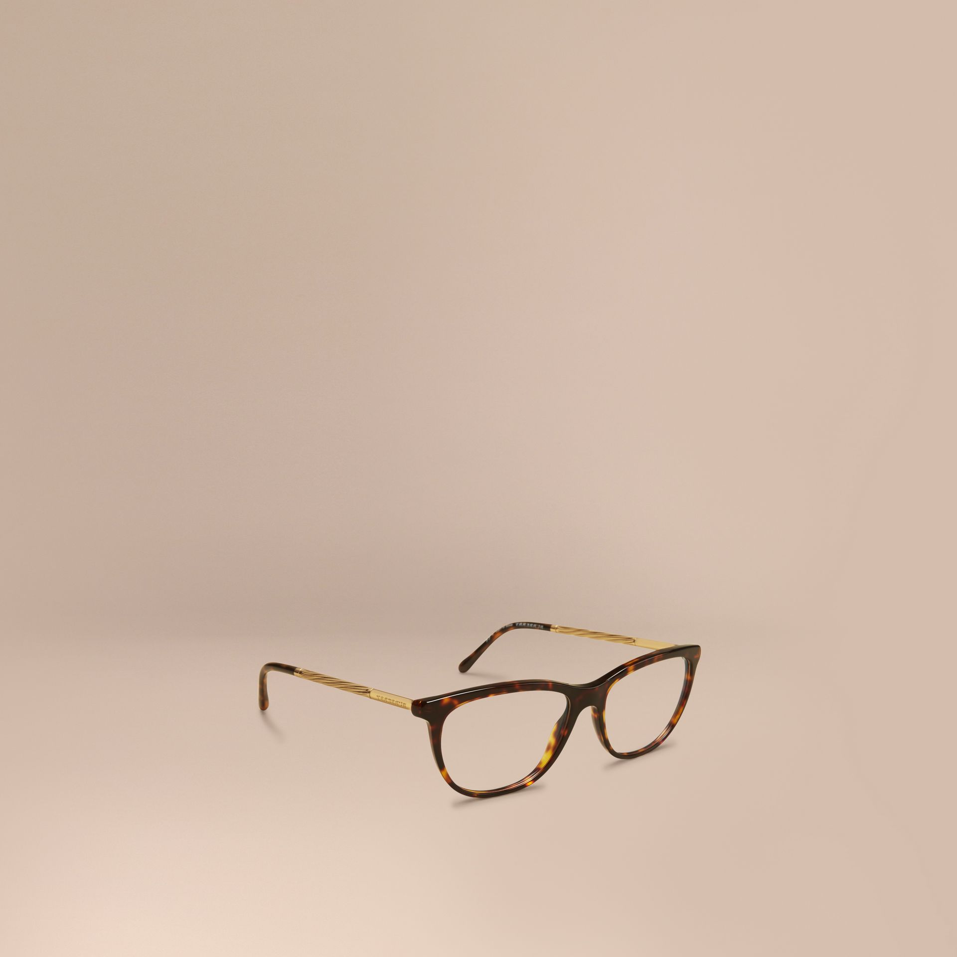 Gabardine Collection Cat-Eye Optical Frames Tortoise Shell - gallery image 1