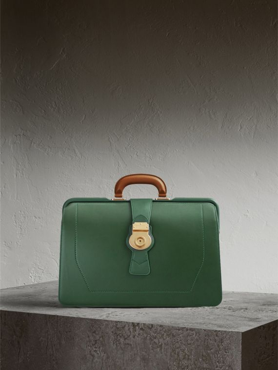 The DK88 Doctor's Bag in Dark Forest Green - Men | Burberry Singapore