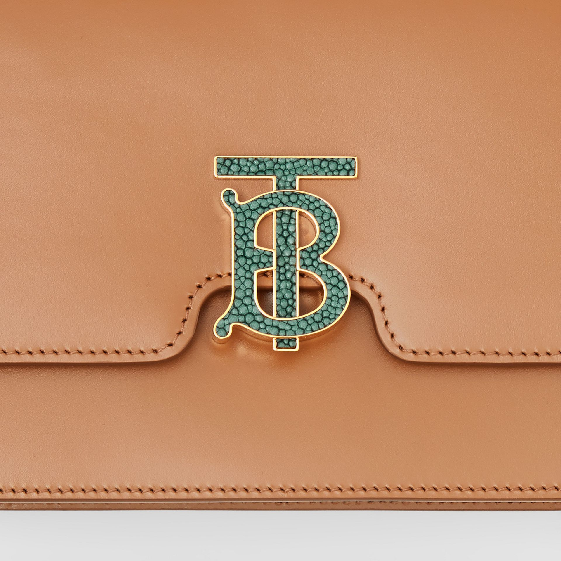 Medium Leather TB Bag in Flaxseed - Women | Burberry - gallery image 1
