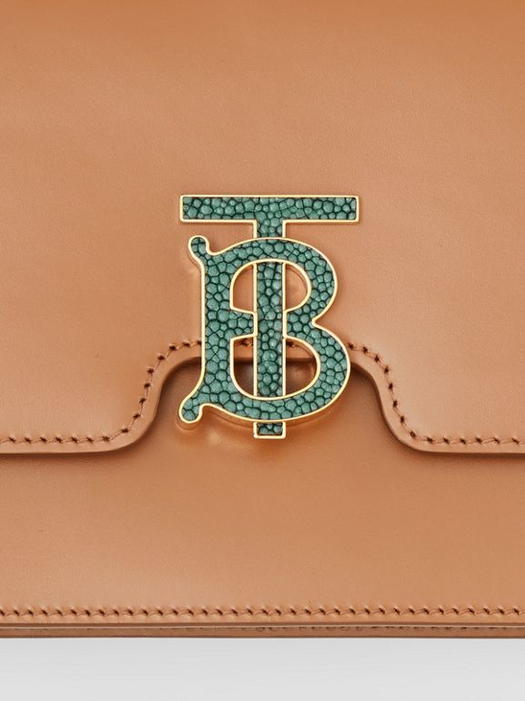Medium Leather TB Bag in Flaxseed - Women | Burberry - cell image 1