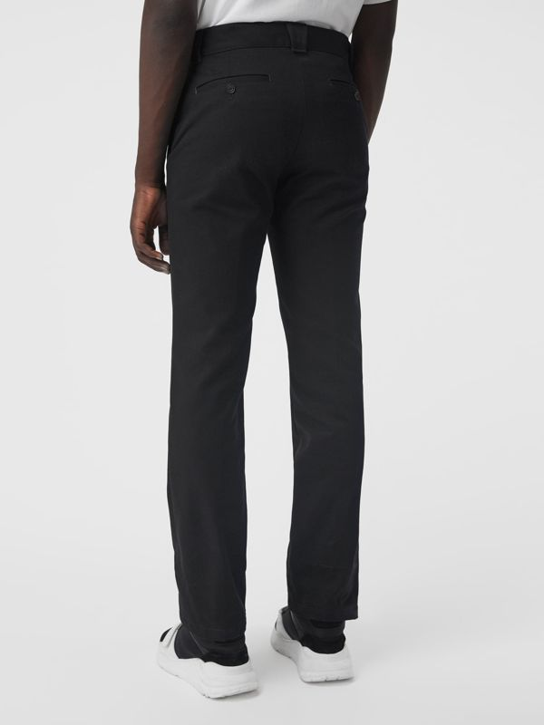 Technical Cotton Twill Trousers in Black - Men | Burberry Australia - cell image 2